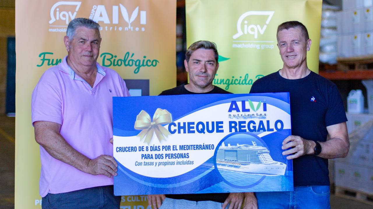 Entrega del premio del sorteo de ALVI Nutrientes